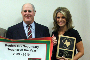 Prather named Region 16 Teacher of the Year