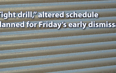 'Tight schedule' drill, early dismissal planned for Friday