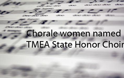 Chorale women named Texas Honor Choir