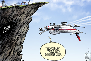 Fiscal Cliff Opinion Cartoon