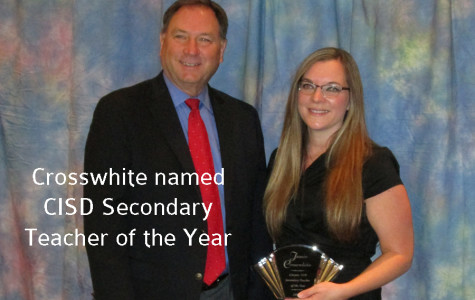 Crosswhite named CISD Secondary Teacher of the Year