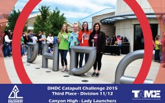 Physics students compete at catapult contest