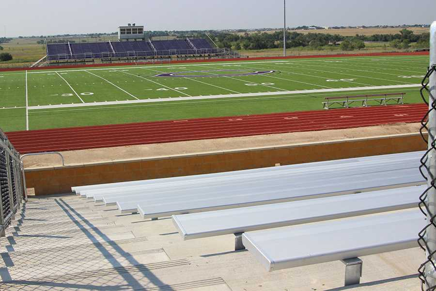 The bleachers on the home  side are now available for use.