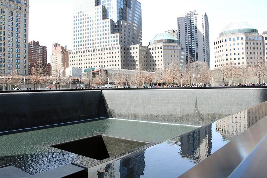 The reflecting pools opened Sept. 12, 2011 at the tenth anniversary of the attacks.