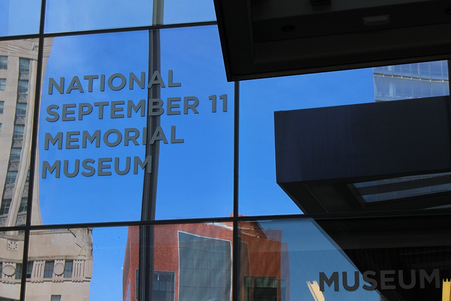 The National September 11 Memorial Museum is located beside the reflecting pools where the Twin Towers once stood.