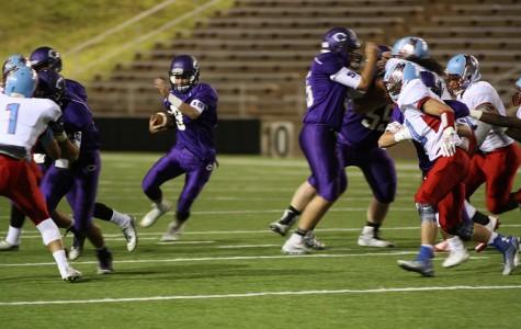 Varsity football defeats Lawton-Eisenhower