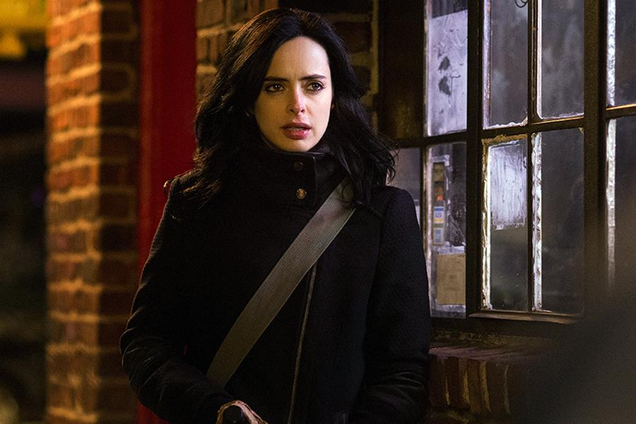"Krysten Ritter starred in ""Marvel's Jessica Jones,"" about an alcoholic ex-superhero suffering from serious PTSD. (Myles Aronowitz/Netflix)"