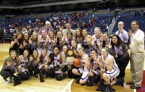 Varsity girls basketball wins third consecutive state championship