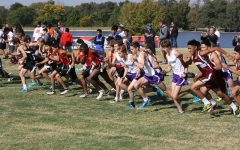 The varsity boys begin their race at the District 3-5A Cross Country Meet in Amarillo Oct. 14.