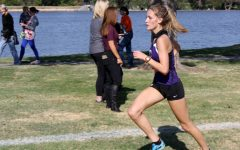 Sophomore Caitlynne Speegle runs during the District 3-5A Cross Country Meet in Amarillo.