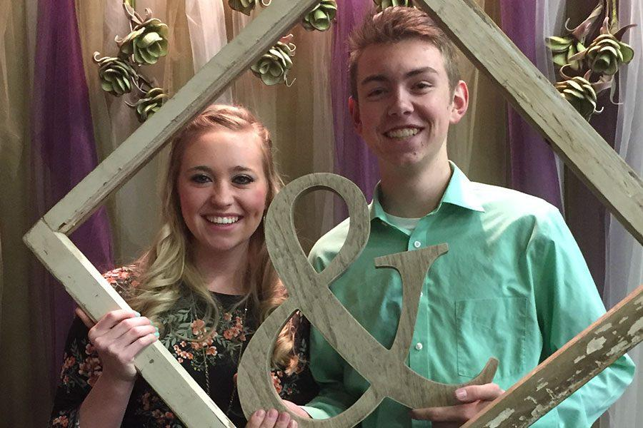 Juniors Katie Hughes and Justin Hawthorne attend a wedding together.