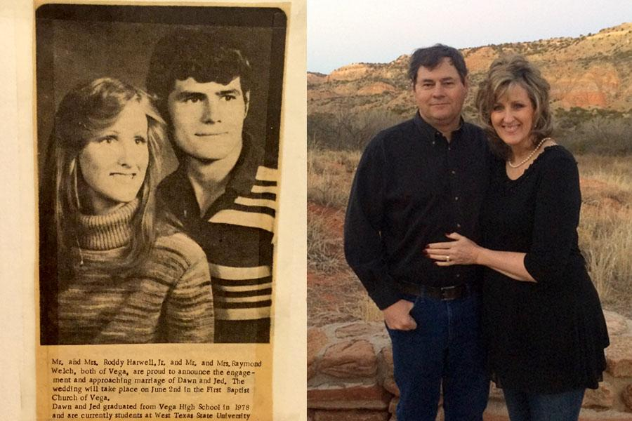 Dawn and Jed Welch became engaged in 1979 and have been married 38 years.