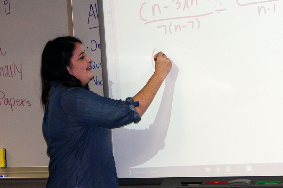New faculty member Lindsay Shuman teaches math.