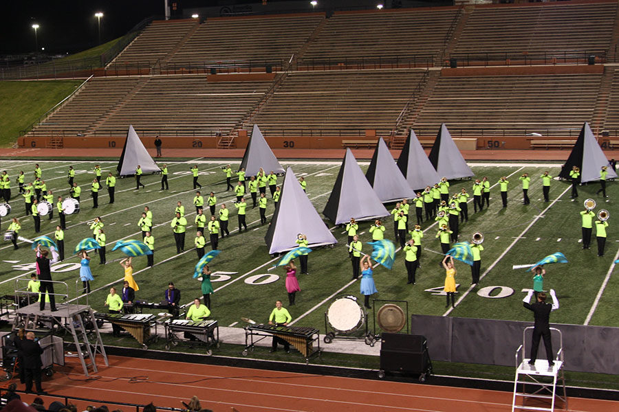 The+Soaring+Pride+Band+performs+at+the+Regional+Marching+Contest+where+they+received+a+first+division+rating.