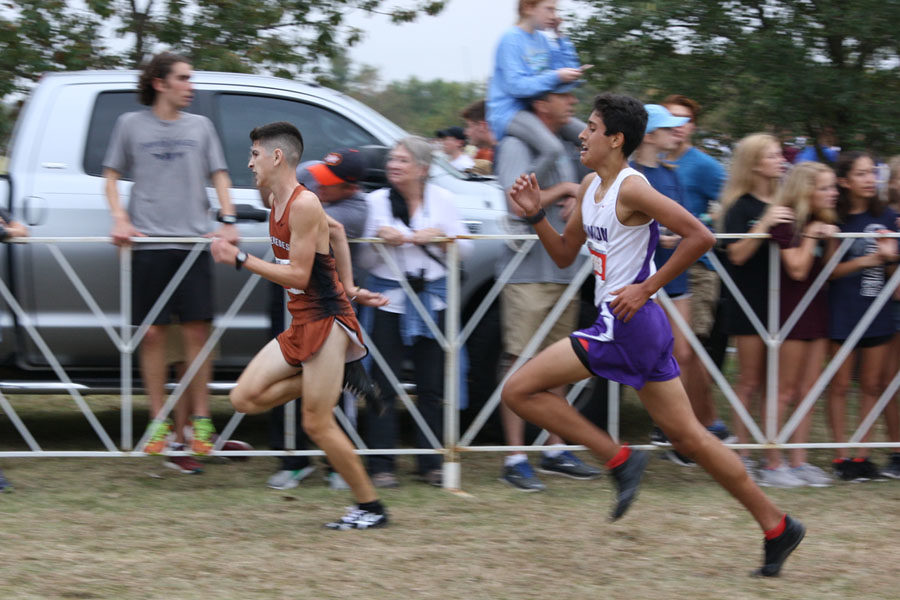 Freshman+Samuel+Ashley+competes+at+the+UIL+cross+country+state+meet+Nov.+4+in+Round+Rock.