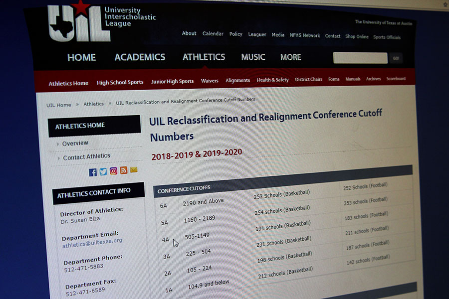 UIL released new classification numbers Wednesday, Dec. 6 on their website, UILtexas.org.