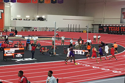 The Texas Tech indoor track will host a high school track meet Jan. 20.