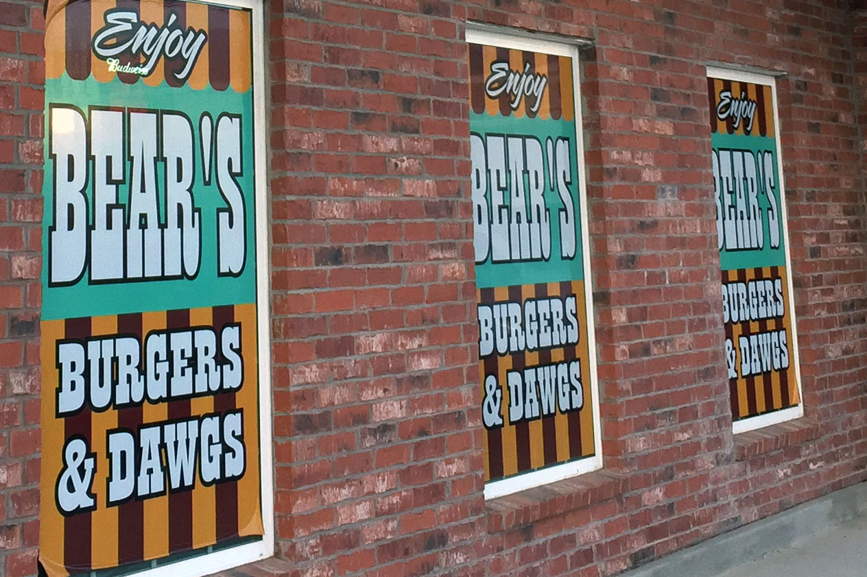Bear's Burgers & Dawgs is located in the Depot development behind United.