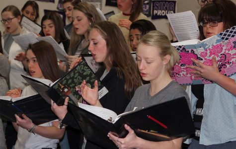 Choir members hit the right note at solo and ensemble contest