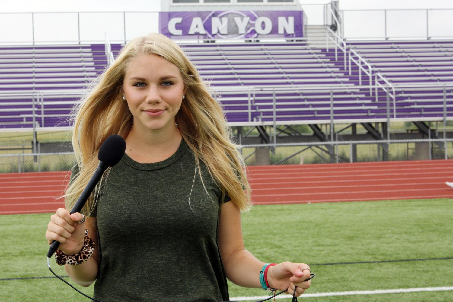 Senior Faith Douglass finds her home on the football field.