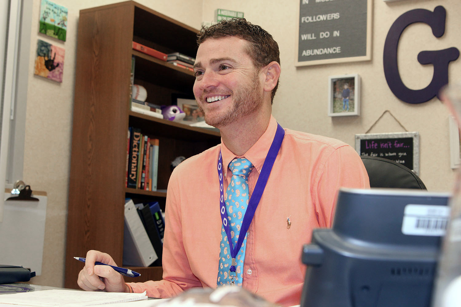 Eric Gomez recently became Canyon High's newest assistant principal.