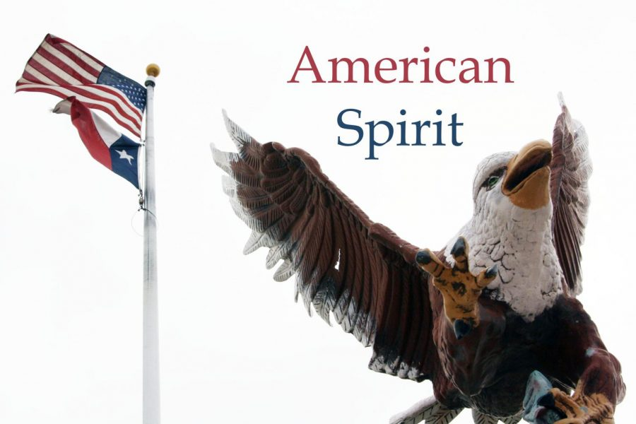 Students+share+their+thoughts+on+America+following+the+USA+themed+pep+rally+Sept.+4.