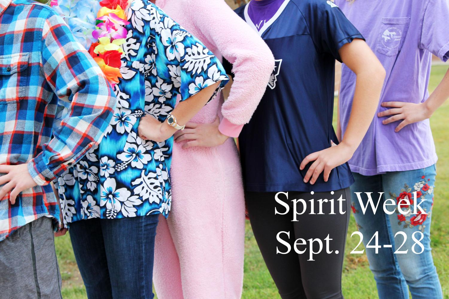 Student can participate in a  variety of dress-up days during spirit week.