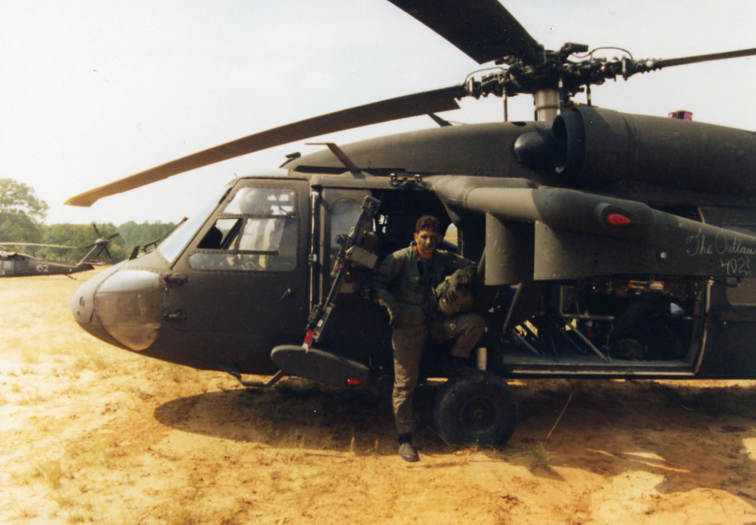 World history and girls soccer coach SGT Charles Johnson served in the Army as a UH-60 Black Hawk crew chief
