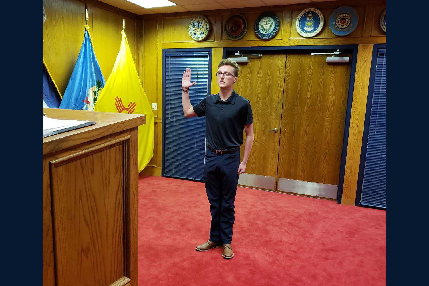 Senior Ian Hughes enlisted in the United States Marine Corps in June.