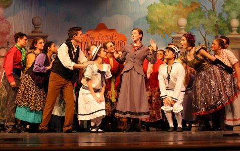 Mary Poppins (Katelyn Spivey) discusses the versatility of the word
