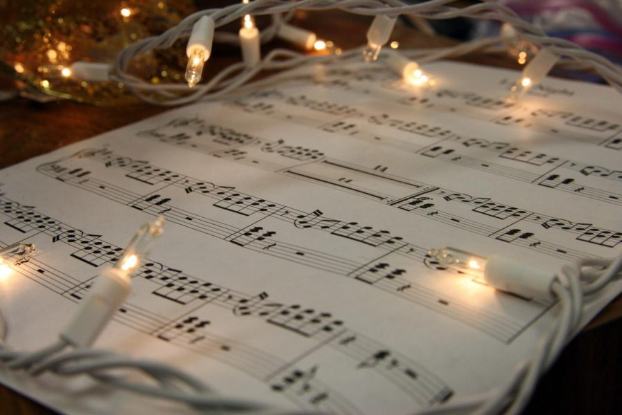 Music+provides+Christmas+spirit+around+the+holidays.