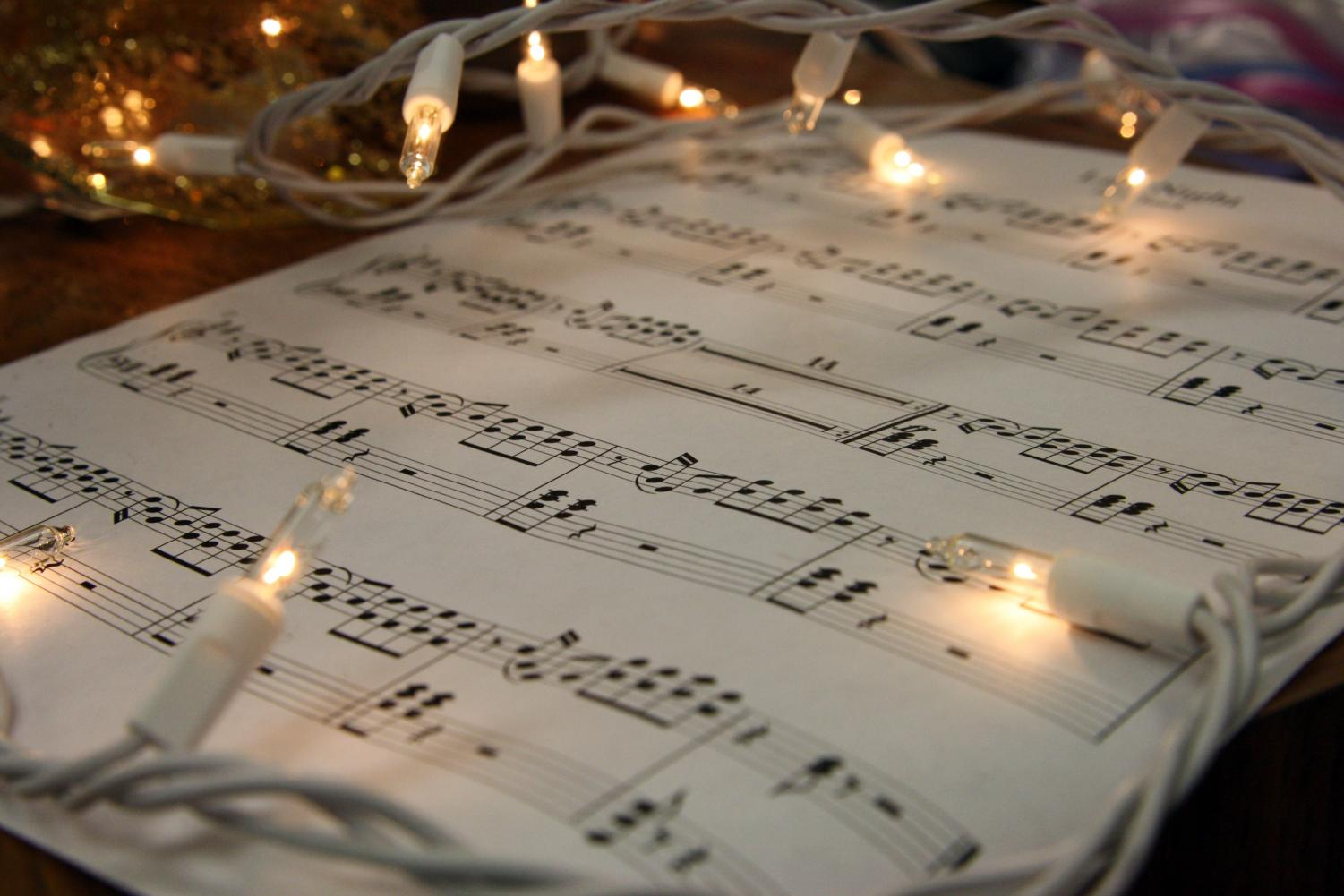 Music provides Christmas spirit around the holidays.