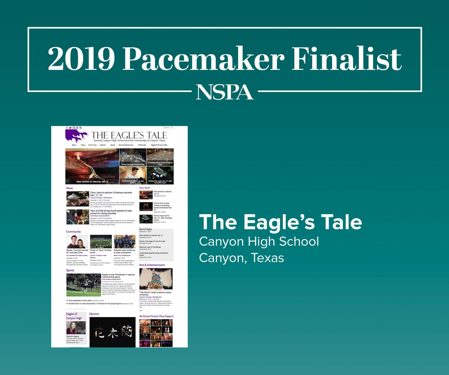 The National Scholastic Press Association has announced the 2019 online newspaper Pacemaker finalists.