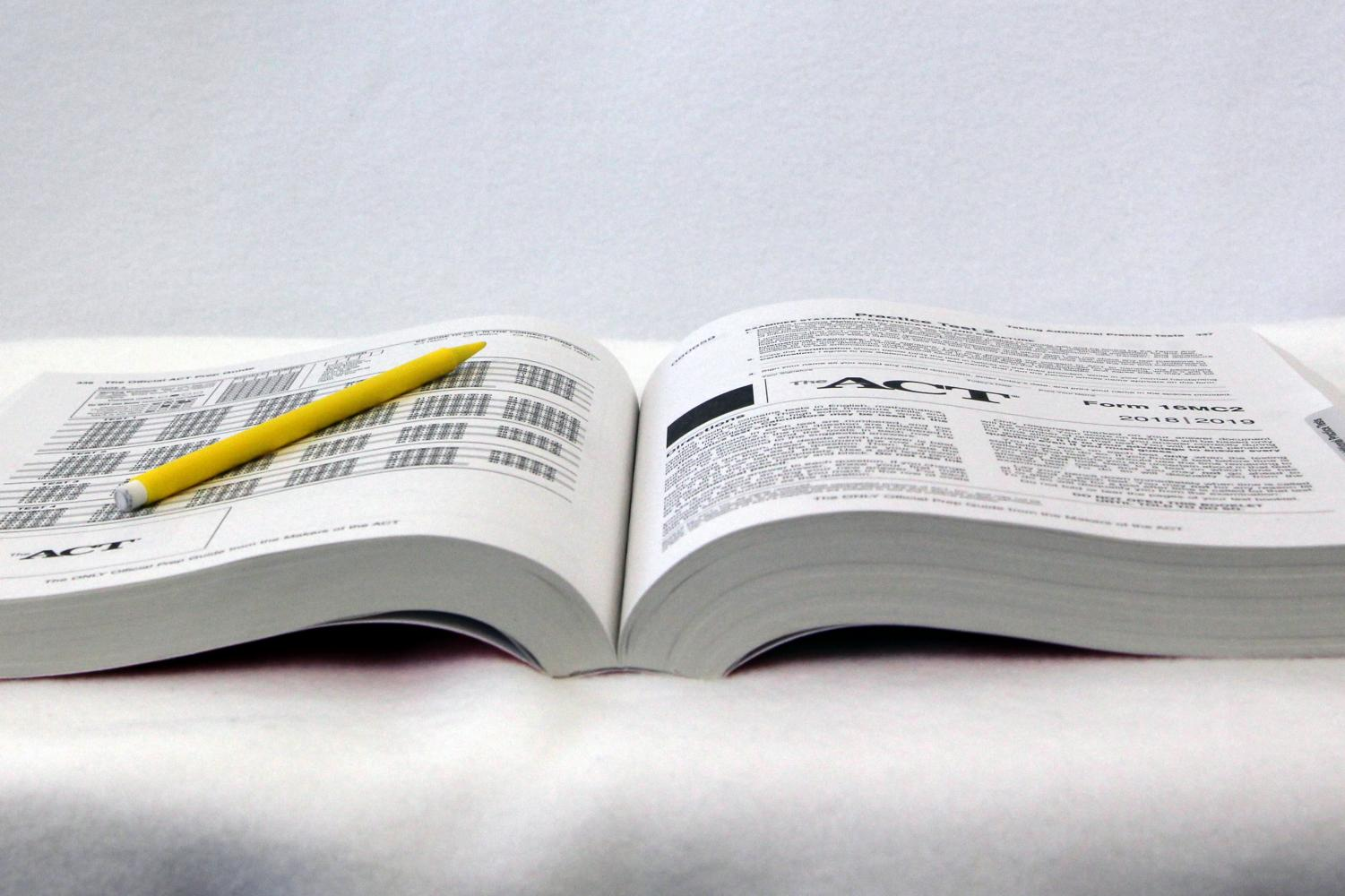 The ACT is a national standardized test taken by students in high school.