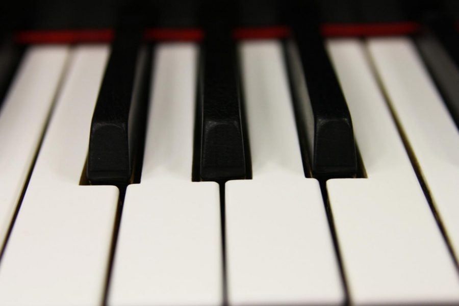 A Baldwin piano has been used by the Canyon High School choir for many years.