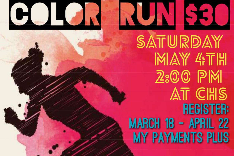 The Color Run will benefit the Tatum Tough Foundation.
