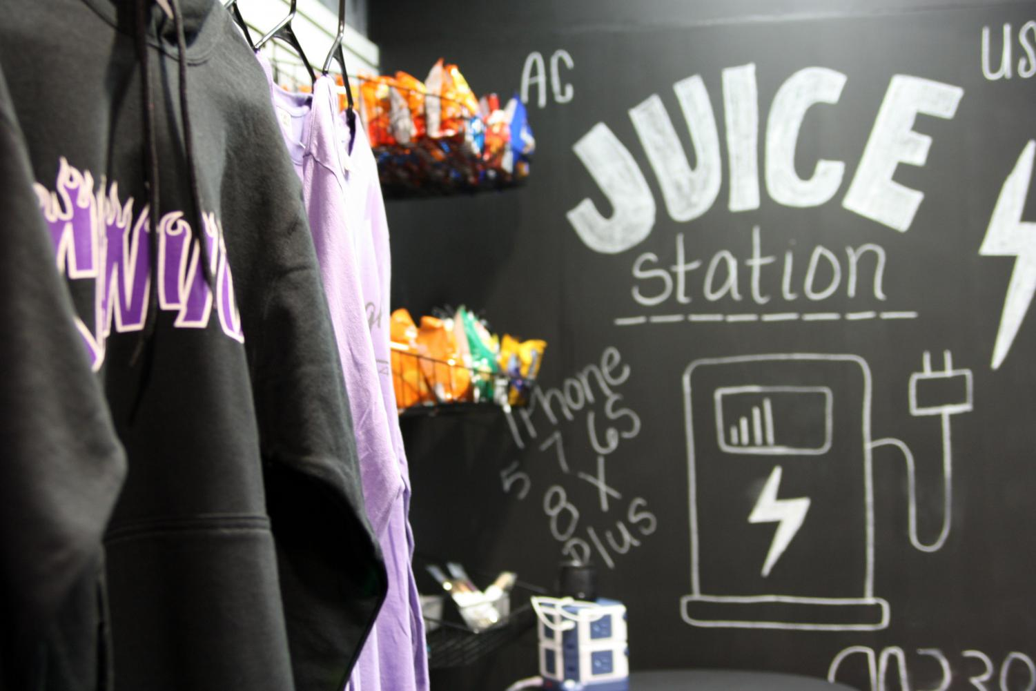 The Juice Station is only a small part of what the school store has to offer.
