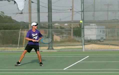 Tennis team plays in regional semi-finals
