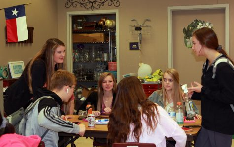 Student Council members vote on spring activities during a club meeting Thursday, Nov. 14.