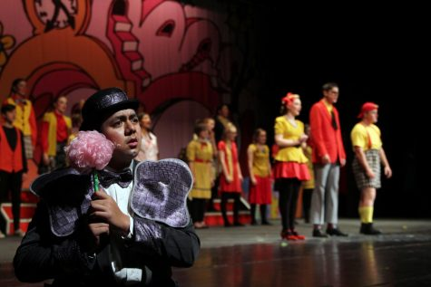 Junior Josh Moreno plays the lead part of Horton in Seussical.