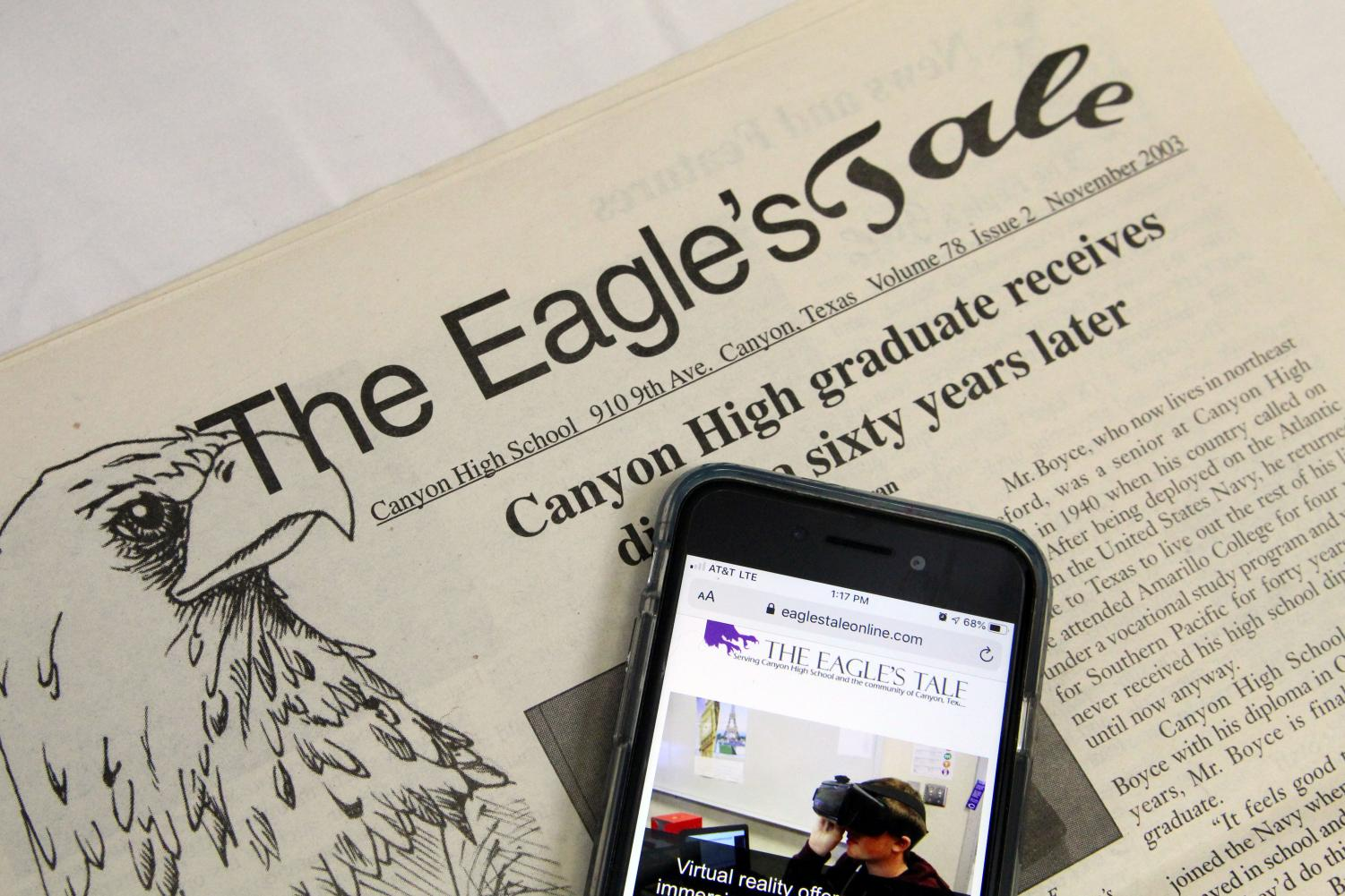 Before 2009, The Eagle's Tale was solely a physical newspaper.