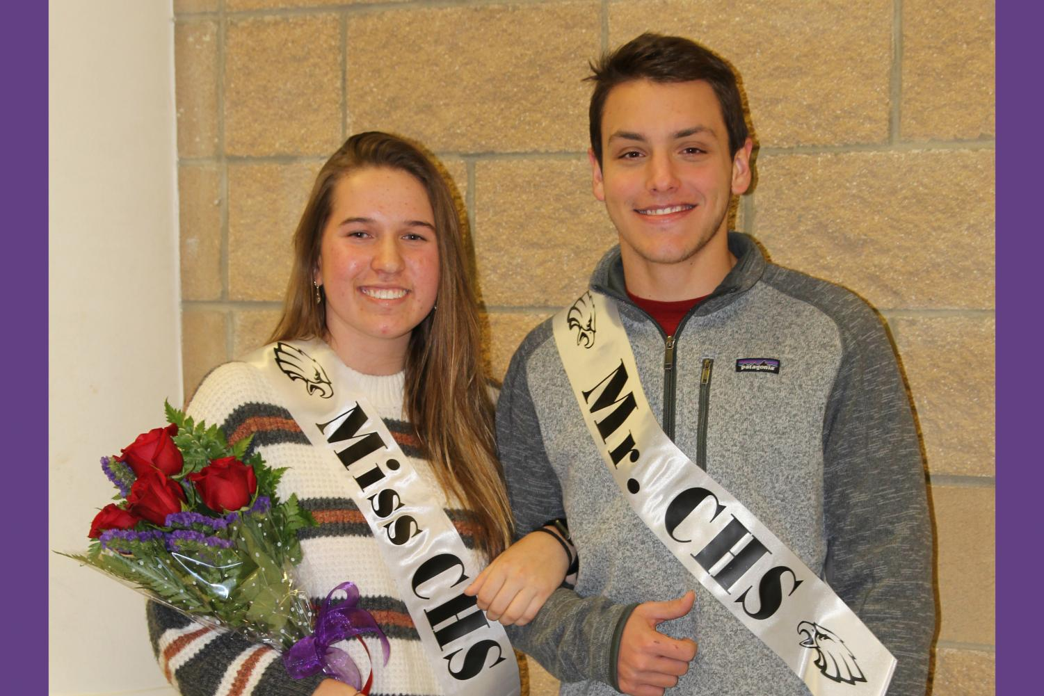 Seniors Aidan Hildinger and Ally McBroom were named Mr. and Miss CHS Dec. 3.
