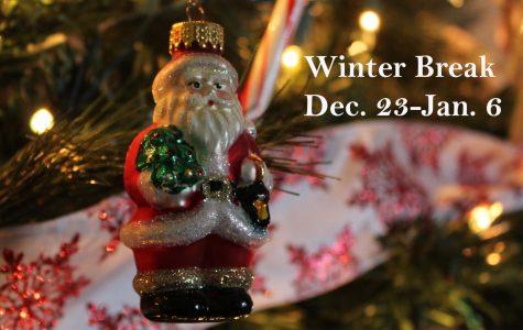 Winter Break begins Monday, Dec. 23