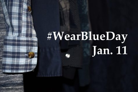 Participants can post pictures of themselves wearing blue clothing on social media with the hashtag #WearBlueDay to help raise awareness for human trafficking.