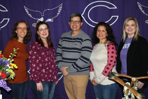 The nominees for Teacher of the Year include (left to right) Ellen Ward, Kylie Howel, Lance Culbert, Rubi Perez and Nicole Moore.