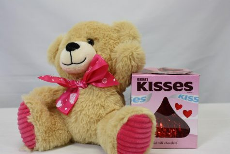 The individual winning the giveaway will earn both the stuffed bear and chocolate candy.