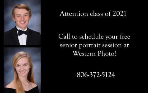 Students can call 806-372-5124 to schedule their free photo session.
