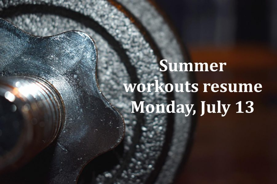 Student+athletes+began+summer+workouts+with+some+restrictions+in+June.