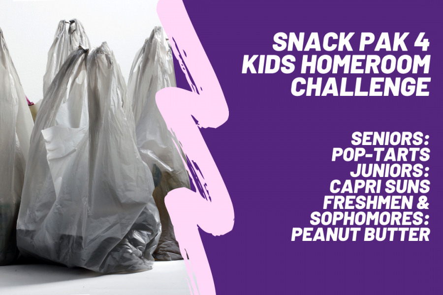 The 'Homeroom Challenge' will benefit the Snack Pak 4 Kids program, which provides 36 Canyon High students Snack Paks and over 10,000 more students across Texas.