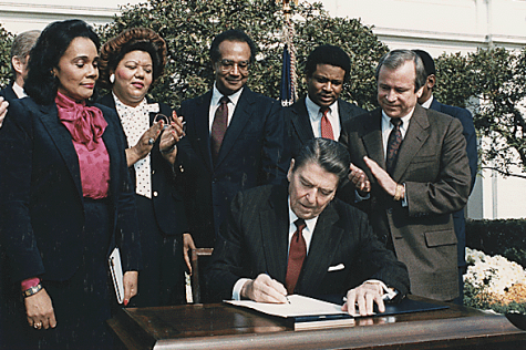 In November of 1983, President Ronald Reagan signs MLK Day into law. Celebrated on the third Monday of January, students will have Monday, Jan. 18 off from school to observe the holiday, while faculty will have a staff day.